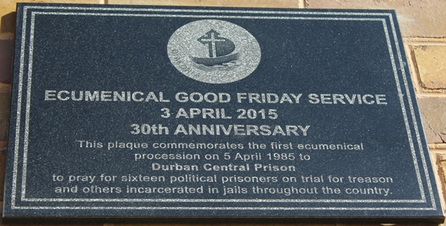 Good Friday Service Plaque Unveiling