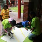 Diakonia Youth Forum Banner Making